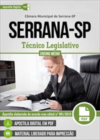 Técnico Legislativo - Câmara de Serrana - SP