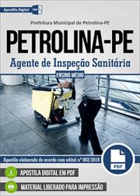 Agente de Inspeção Sanitária - Prefeitura de Petrolina - PE