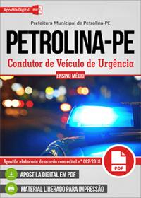Condutor de Veículo de Urgência - Prefeitura de Petrolina - PE