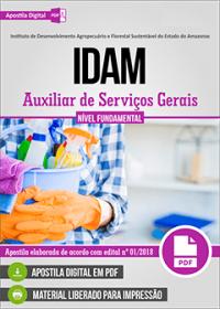 Auxiliar de Serviços Gerais - IDAM