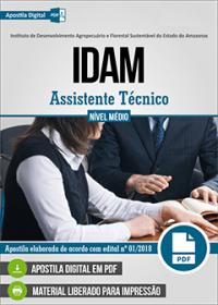 Assistente Técnico - IDAM