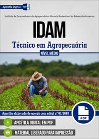 Técnico em Agropecuária - Agrícola - IDAM