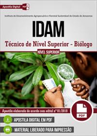 Técnico de Nível Superior - Biólogo - IDAM