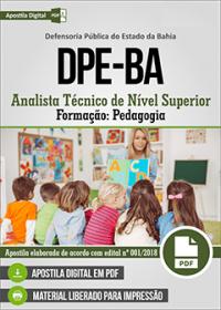 Analista Técnico de Nível Superior - Pedagogia - DPE-BA
