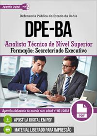 Analista Técnico de Nível Superior - Secretariado Executivo - DPE-BA
