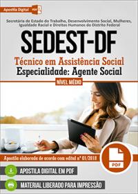 Técnico em Assistência Social - Agente Social - SEDEST-DF