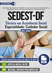 Técnico em Assistência Social - Cuidador Social - SEDEST-DF