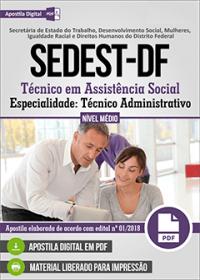 Técnico em Assistência Social - Técnico Administrativo - SEDEST-DF