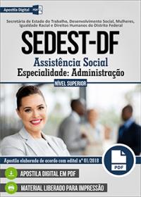 Assistência Social - Especialidade Administração - SEDEST-DF