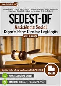 Assistência Social - Especialidade Direito e Legislação - SEDEST-DF