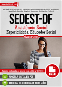 Assistência Social - Especialidade Educador Social - SEDEST-DF