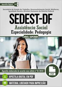 Assistência Social - Especialidade Pedagogia - SEDEST-DF