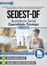 Assistência Social - Especialidade Psicologia - SEDEST-DF