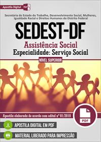 Assistência Social - Especialidade Serviço Social - SEDEST-DF
