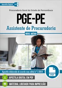 Assistente de Procuradoria - PGE-PE