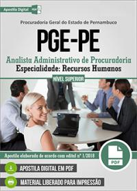 Analista Administrativo de Procuradoria - Recursos Humanos - PGE-PE