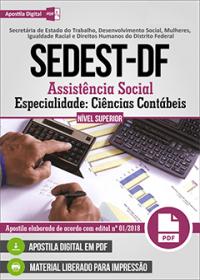 Assistência Social - Especialidade Ciências Contábeis - SEDEST-DF