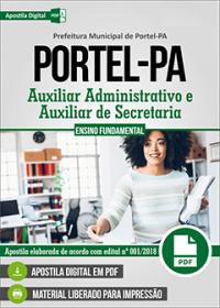 Auxiliar Administrativo e Auxiliar de Secretaria - Prefeitura de Portel - PA