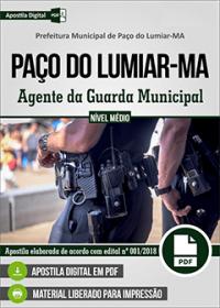 Agente da Guarda Municipal - Prefeitura de Paço do Lumiar - MA