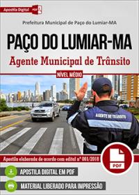 Agente Municipal de Trânsito - Prefeitura de Paço do Lumiar - MA