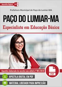Especialista em Educação Básica - Prefeitura de Paço do Lumiar - MA