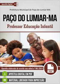 Professor Educação Infantil - Prefeitura de Paço do Lumiar - MA