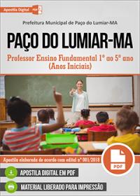 Professor Ensino Fundamental - Anos Iniciais - Prefeitura de Paço do Lumiar - MA