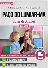Tutor de Alunos - Prefeitura de Paço do Lumiar - MA