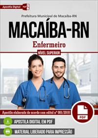 Enfermeiro - Prefeitura de Macaíba - RN
