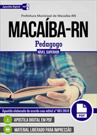 Pedagogo - Prefeitura de Macaíba - RN