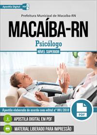 Psicólogo - Prefeitura de Macaíba - RN