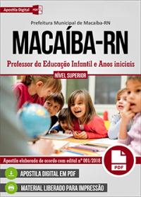 Professor da Educação Infantil e Anos iniciais - Prefeitura de Macaíba - RN