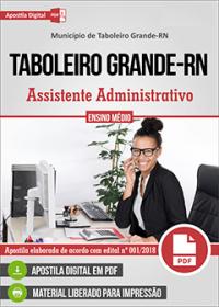 Assistente Administrativo - Prefeitura de Taboleiro Grande - RN