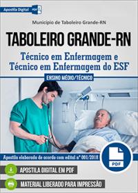 Técnico em Enfermagem - Prefeitura de Taboleiro Grande - RN