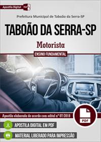 Motorista - Prefeitura de Taboão da Serra - SP