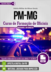 Curso de Formação de Oficiais - Bacharel em Direito - Polícia Militar - MG