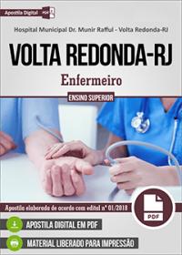 Enfermeiro - Hospital Municipal Dr. Munir Rafful - Volta Redonda-RJ