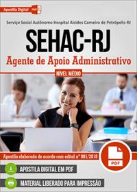 Agente de Apoio Administrativo - SEHAC-RJ