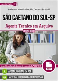 Agente Técnico em Arquivo - Prefeitura de São Caetano do Sul - SP