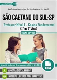 Professor Nível I - 1º ao 5º Ano - Prefeitura de São Caetano do Sul - SP