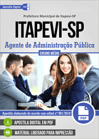 Agente de Administração Pública - Prefeitura de Itapevi - SP