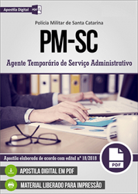 Agente Temporário de Serviço Administrativo - Polícia Militar - SC