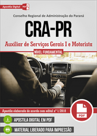 Auxiliar de Serviços Gerais I e Motorista - CRA - PR