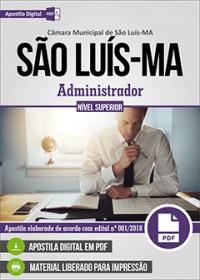 Administrador - Câmara de São Luís - MA