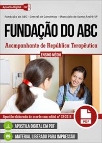 Acompanhante de República Terapêutica - Fundação do ABC