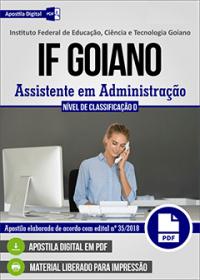 Assistente em Administração - IF Goiano