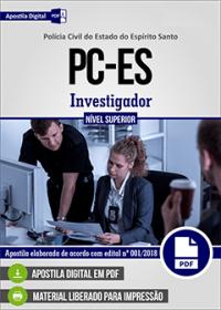 Investigador - Polícia Civil - ES