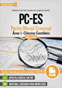 Perito Oficial Criminal - Área 1: Ciências Contábeis - Polícia Civil - ES