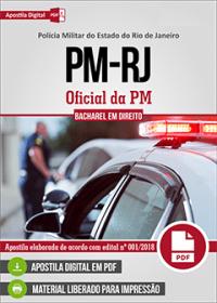 Oficial da PM - Bacharel em Direito - Polícia Militar - RJ