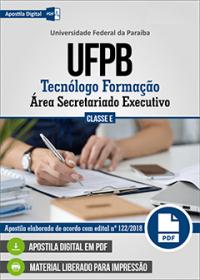 Tecnólogo Formação - Área Secretariado Executivo - UFPB